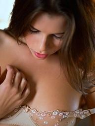 Valeria wears a see-through bra