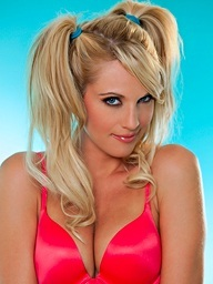 Aj Bailey pulls off her red brassiere