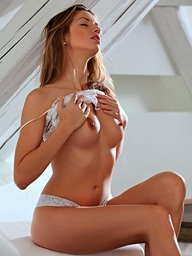 Sweetheart haired Evfrat Mai begins her day..
