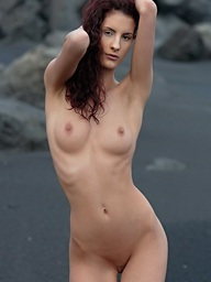 Skiny sweetheart with lengthy legs posing..