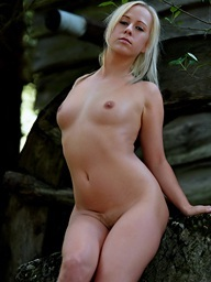 A little shy blond babe Carla showing her..