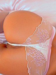 Hot gold baby Sylvia strips and fingers..