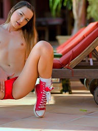 Free and easy teen Ivana strokes their way..