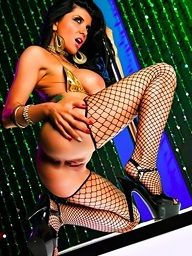 Romi gets naughty on the stripper pole